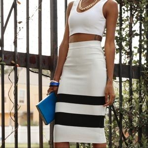 Skirts - White Midi/Pencil Skirt